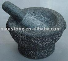 China Granite stone mortar and pestle on sale