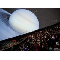 Giant 4D Dome Cinema With Snow And Raining Effect Hemispherical Ball Curtain Screen Manufactures