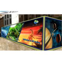 Mobile 6D Movie Theater Simulator With Audio /Broadcast System And Polarized Glasses Manufactures