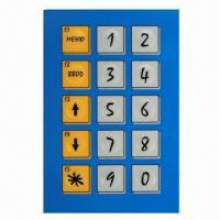 Embossing button membrane switch overlay sticker, customized designs are accepted Manufactures