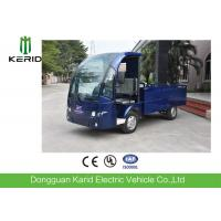 48V DC Motor 2 Seats Electric Carry Van Utility Cart With Stainless Steel Cargo Box Full Roof Manufactures