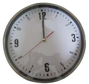 China Metal Kitchen Wall Clock Mute Scanning Movement Analog Display on sale