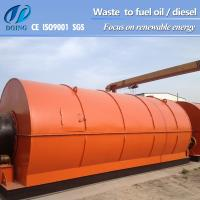 waste pyrolysis machine turn waste tyre/plastic to fuel oil Manufactures