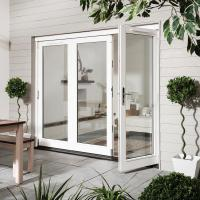 China Exterior Commercial Aluminium Hinged Doors / Insulated Tempered Glass Front Door on sale
