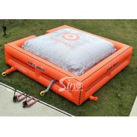 China Custom size outdoor big inflatable jump air bag for BMX stunt challenge on sale