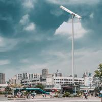 China Durable Pole Mounted Solar Lights , Led Street Lamp Intelligent Remote Operations on sale