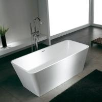 custom Fashionable Stone Resin modern free standing soaking bathtubs bath shower Manufactures