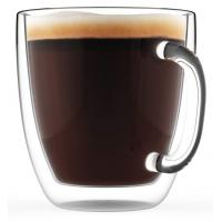 Borosilicate Beverage Mugs Double Wall Glass Coffee Cup Tea Cups With Handle