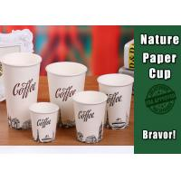 Logo Printed Heat Resistant Paper Cups High Smoothness With White PS Lids Manufactures