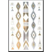 Waterproof body Gold and Silver Temporary Tattoos For Cosmetic Manufactures