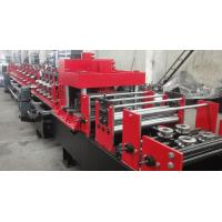 China Symmetry Dual Rows Holes Punching C Purlin Roll Forming Machine Hydraulic 14MPa Working Pressure on sale