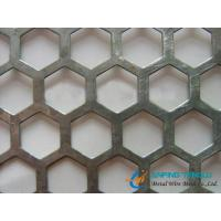 Hexagonal Hole Staggered Perforated Metal, 4.5mm to 12.7mm Hole Size Manufactures