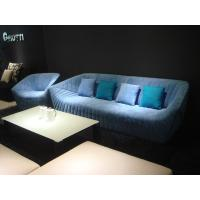 Modern Hotel Lobby Sofas , Color Combination Fabric Sofa , blue fabric sofas Manufactures