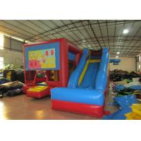 Classic inflatable combo for sale PVC inflatable jumping house with slide inflatable football sport game multi-play jump Manufactures