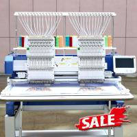 15 Needle 1200SPM Double Head Embroidery Machine For Garment / Hat / Shoes