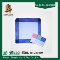 Strong Absorption Kitchen Tea Towels White and Blue Checker Dish Towels 35*55cm Manufactures