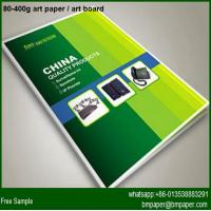 80gsm 67*87cm Coated art paper Art Paper Brochure Printing Manufactures
