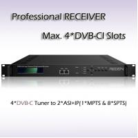 Four-Channel Professional Receiver DVB-C input with 4*DVB-CI slots BISS Support RSR1104 Manufactures