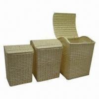 Storage Baskets with Split Willow, Set of 3 and Easily Moved, Cleaned, Fashionable Style Manufactures