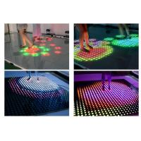 China Portable Interactive Led Floor Display / Led Disco Dance Floor Full Color on sale