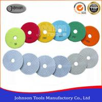 China 100mm White Type Diamond Floor Polishing Pads For Removing Scratches on sale