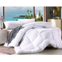 Polyester Microfiber Filling Comforter White Hotel Duvet / Quilt with Binding Manufactures