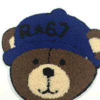 Custom Made Chenille Embroidery Patches , Cute Iron On Animal Appliques Manufactures