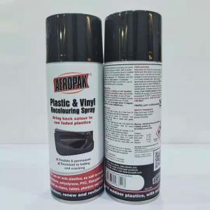 Indoor Outdoor Black Aerosol Spray Paint Anti Faded For Plastic Renews / Revitalizes Manufactures