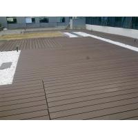 Waterproof WPC Deck Flooring For Garden , Playground And Outdoor Decorative Manufactures
