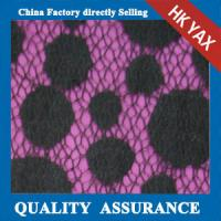 2014 china factory wholesale new design hot selling low price Black dot design Nylon & Cotton lace fabric Manufactures
