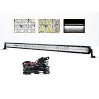 54 Inch 300 Watt 5D 4x4 Off Road LED Light Bar 30000 Hours Life Span Manufactures