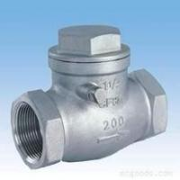 Quality stainless steel screw awing check valve;check valves;NPT;bspt;200WOG;screw end for sale
