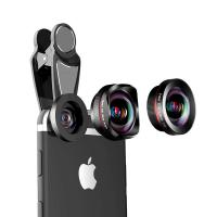 16MM 4K HD No Distortion Wide angle 15x macro  198 fisheye 3 in 1 mobile phone lens Manufactures