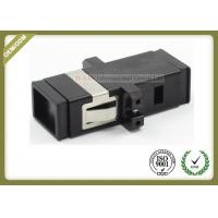 MTRJ SM MM Fiber Optic Cable Adapter  Black Color SC Footprint  ABS Material Manufactures