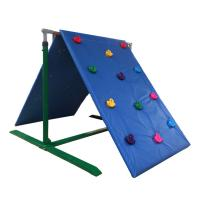 Customized Color Kids Backyard Climbing Wall , Plastic Childrens Rock Climbing Wall Manufactures