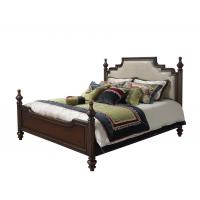Quality Sandalwood Bedroom set Classic style BT-2902 High fabric Upholstered headboard for sale