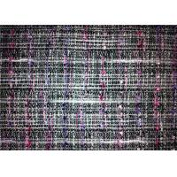 Woven Technics Tweed Material Fabric , Different Color Wool Blend Fabric 340g/M Manufactures