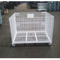 Powder Coated Collapsible Wire Container Rust Resistant Long Life Span for sale