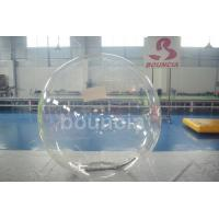 Clear TPU Inflatable Water Walking Ball With Durable Tizip Zipper Manufactures