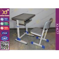 School Furniture Single Student Desk And Chair With Strengthened Station Leg Manufactures