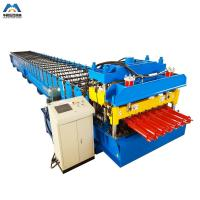 China Color Steel Metal Glazed Tile Tile Roll Forming Machine For Outdoor Decorate on sale
