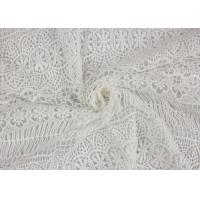 Textile Milk Fiber Water Soluble Guipure Lace Fabric By The Yard Stretch Soft Feel Manufactures