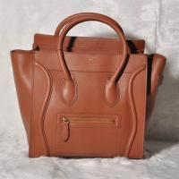 Celine Mini Luggage Tote Bag Smooth Leather Brown Manufactures