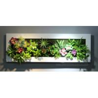 Quality Interior Decorative Artificial Green Wall Panel Fake Plants Hanging Ornaments for Hotel for sale