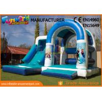 Buy cheap Playground Combo Inflatable Frozen Jumping Castle / Blow Up Water Slide from wholesalers