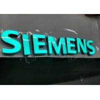 SIEMENS Epoxy Resin Lighted Channel Letters for Store Cabinet Advertising Manufactures