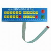 Customized Membrane Switch/Keyboard/Keypads, Made of PVC Material Manufactures
