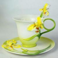 Bone China CCA002(Yellow) Coffee Cups Manufactures