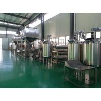Creamy / Salty / Sweet Peanut Butter Processing Line 500kg/h 1000kg/h Multifunction Manufactures