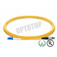 Buy cheap LC - FC UPC Connector Fiber Optic Patch Cord 1F 3.0mm OFNR CORNING SMF - 28 from wholesalers